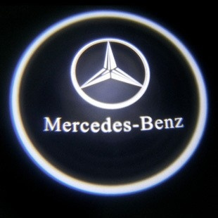 Mercedes ghost shadow led light deur mercedes logo plug for Mercedes benz symbol light