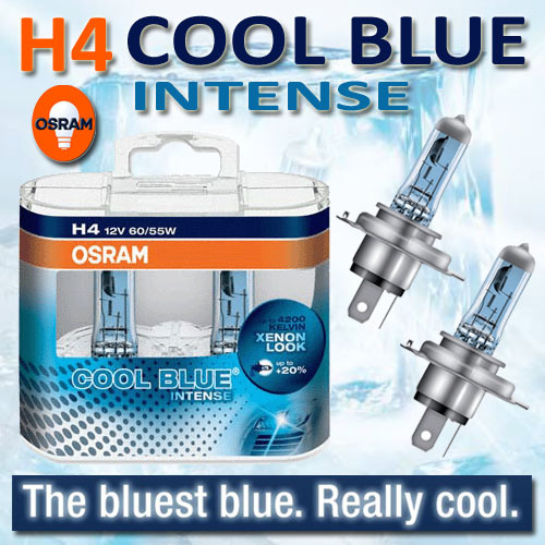 osram verlichting osram cool blue intense h4. Black Bedroom Furniture Sets. Home Design Ideas